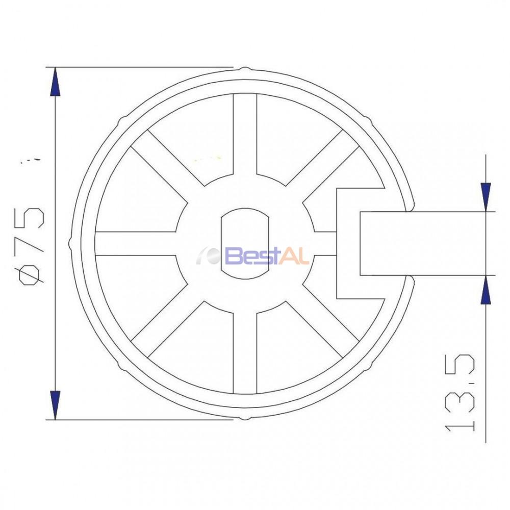 Adaptor BM 60 și Tub 78mm Inele & Adaptoare DL 42 Bestal