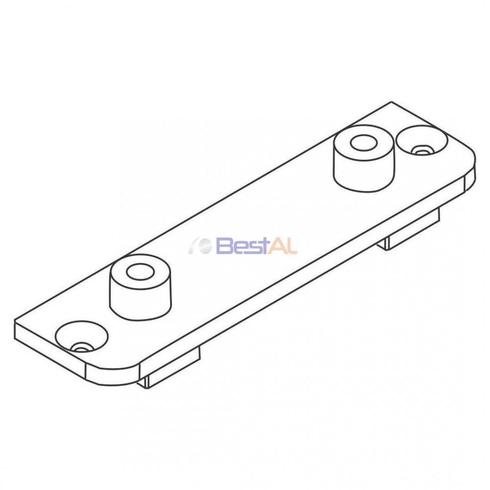 Adaptor Plastic pentru Profil Bandou Plase Insecte Batante AS Bestal