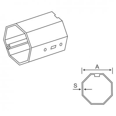 Ax octogonal 40/60 Axuri & Accesorii AX XX Bestal