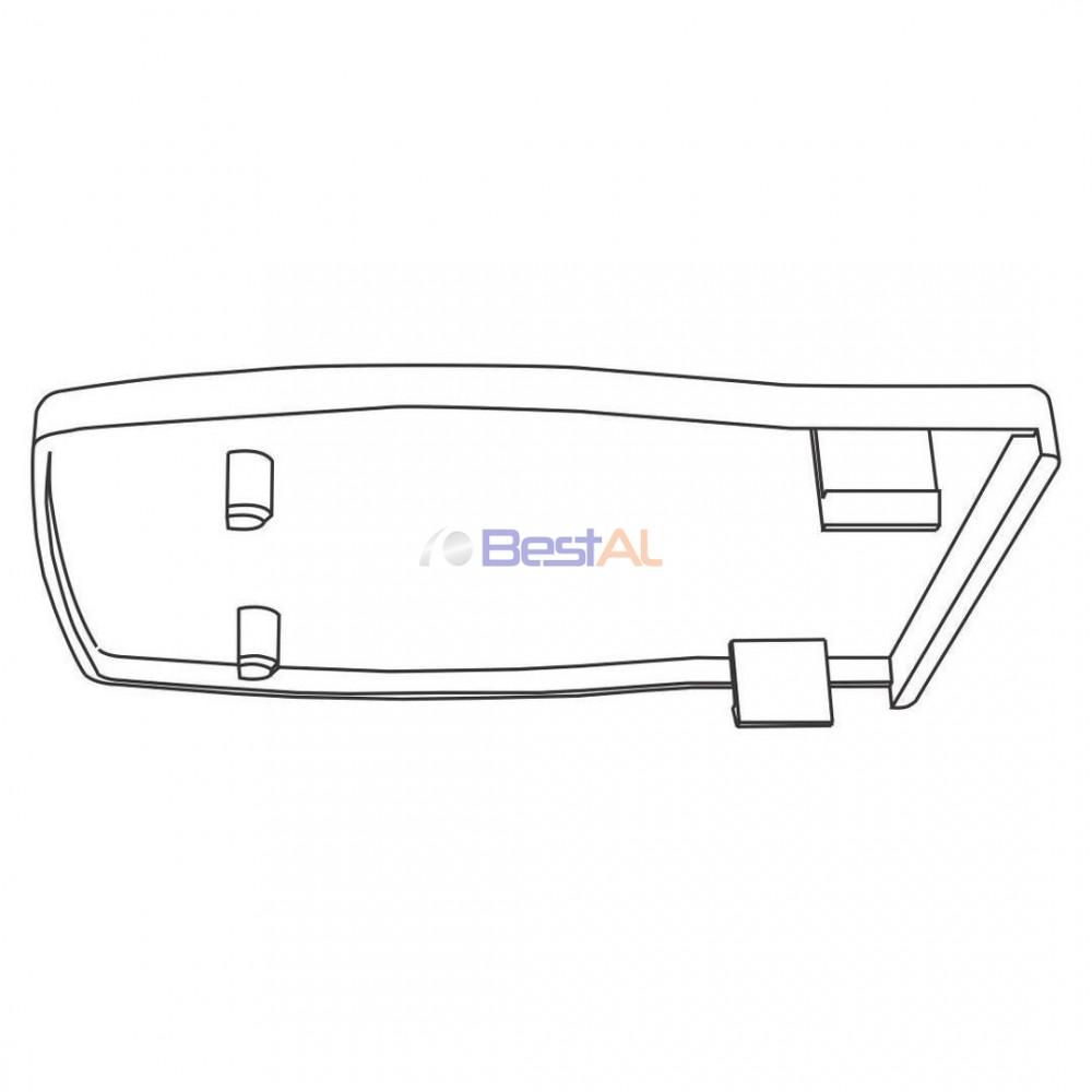 Capac pentru Cap Terminal Șină Sina & Accesorii Draperii Electrice DS 157-03 Bestal