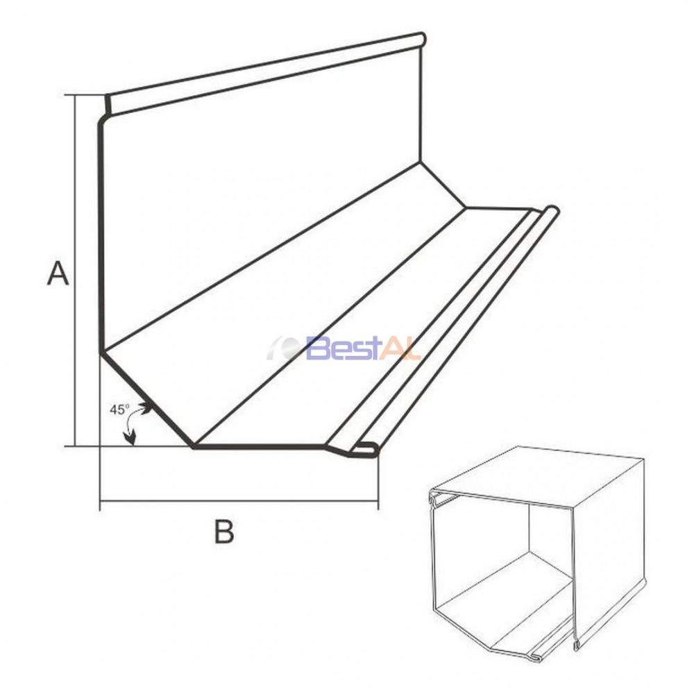 Casetă Aluminiu Frontală Casete & Accesorii CF XXX YY - Bestal