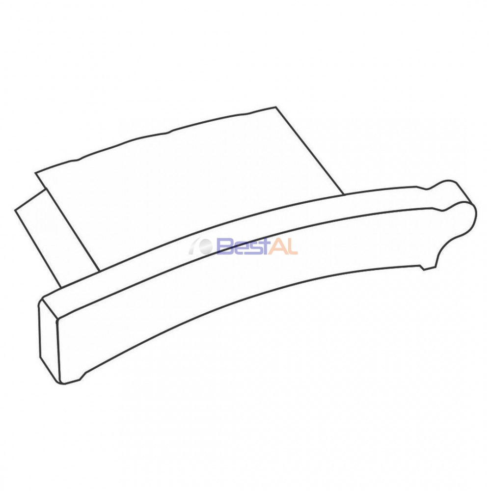 Dop plastic lamela extrudata Accesorii Lamele si Lamele Terminale DP63/ DP78 Bestal