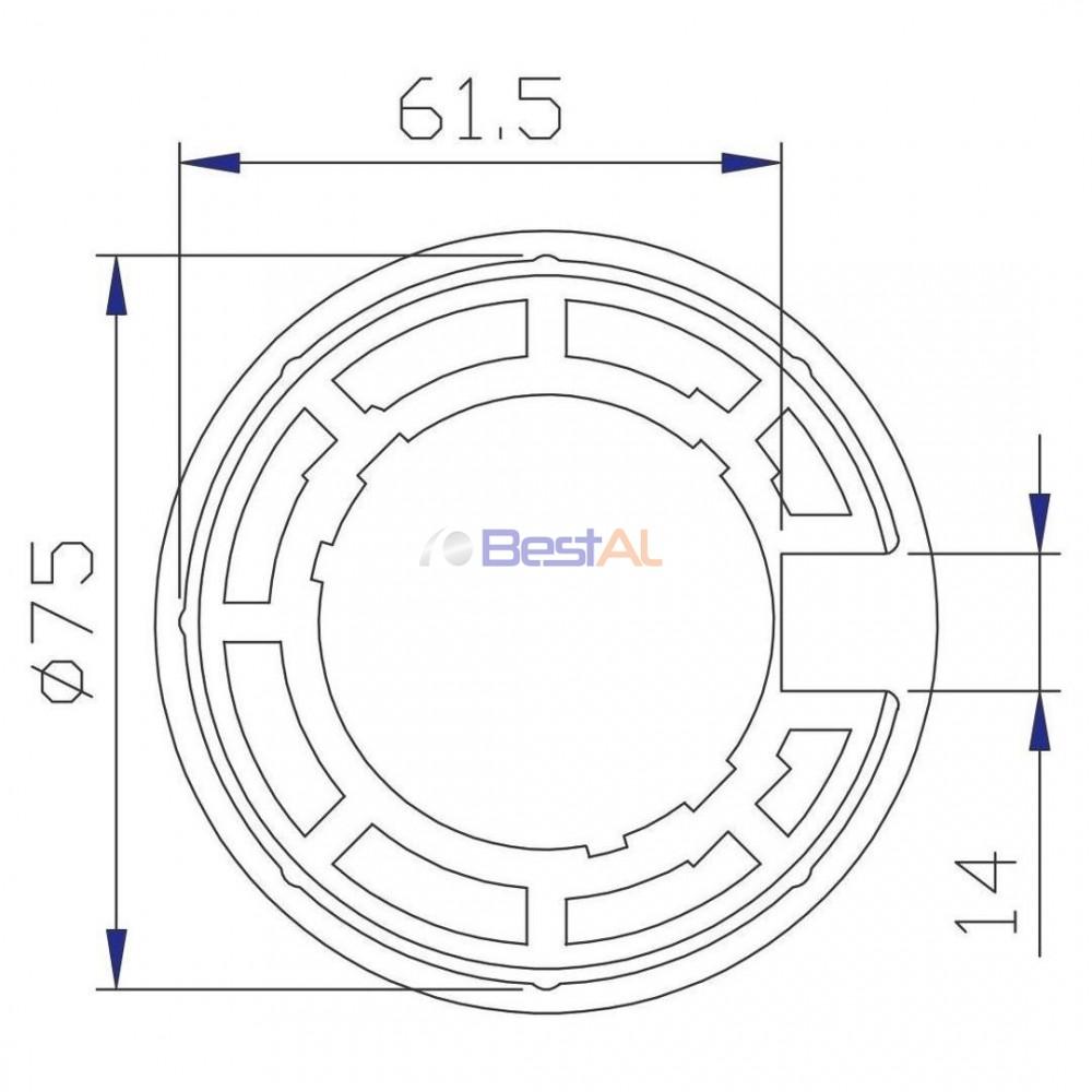 Inel BM 60 și Tub 78mm Inele & Adaptoare DH 35 Bestal