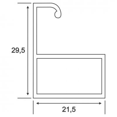 Lamelă Terminală Plasă Fixa Componente Rulouri cu Plasa LTPF XX Bestal