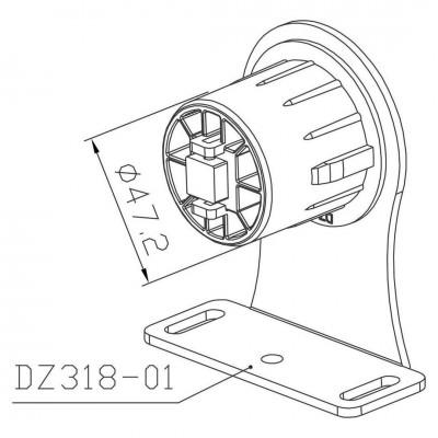 Plăcuță Metalica Motor DZ 318A Placi de Prindere Motor DZ 318A Bestal