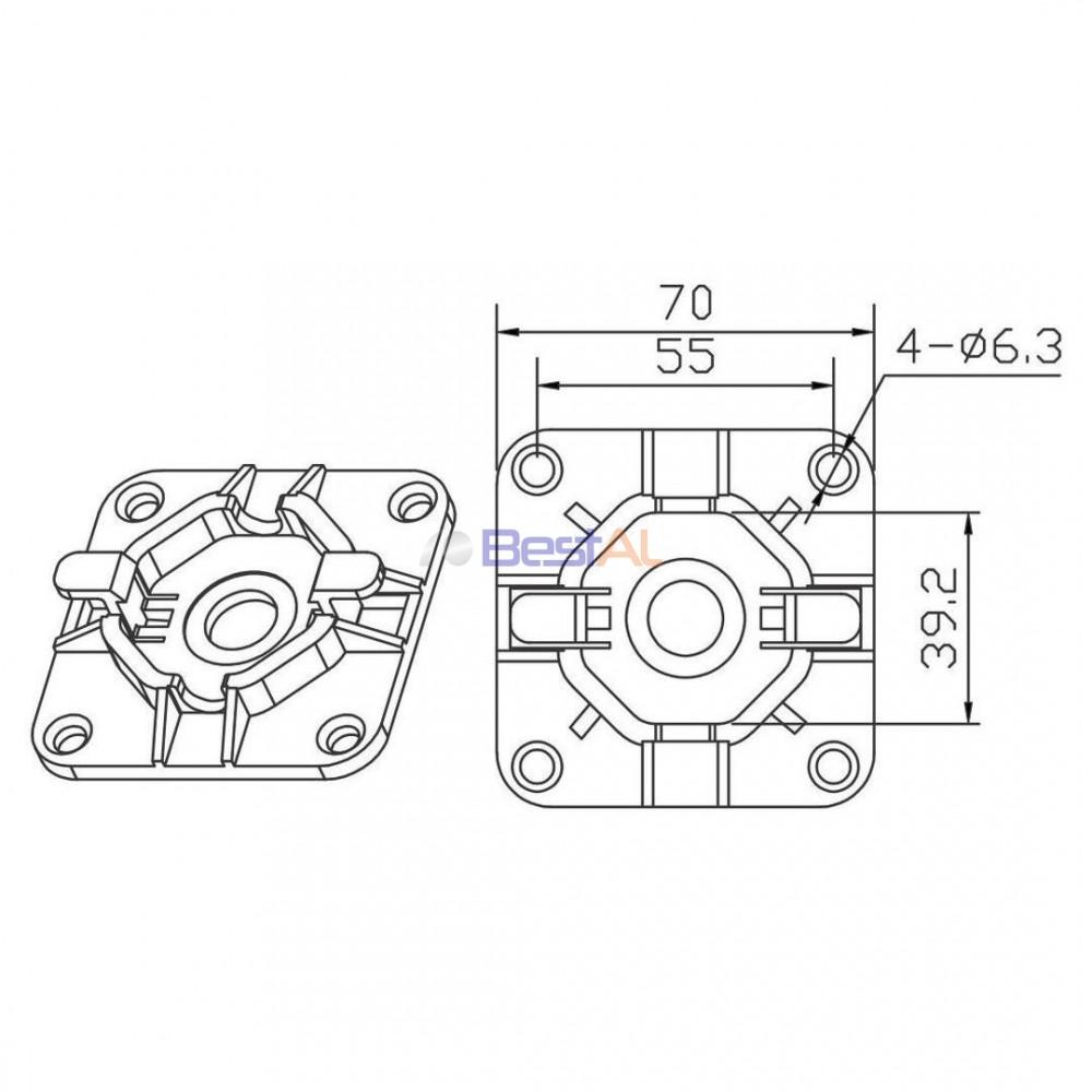 Plăcuță Metalica Motor DZ 98 Placi de Prindere Motor DZ 98 Bestal