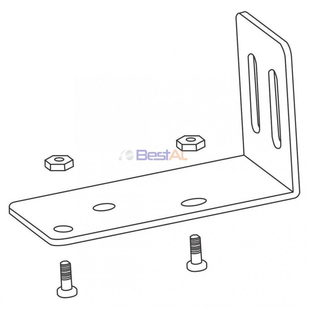 Plăcuță Metalică Prindere Șină Perete Sina & Accesorii Draperii Electrice DS 157-18 Bestal