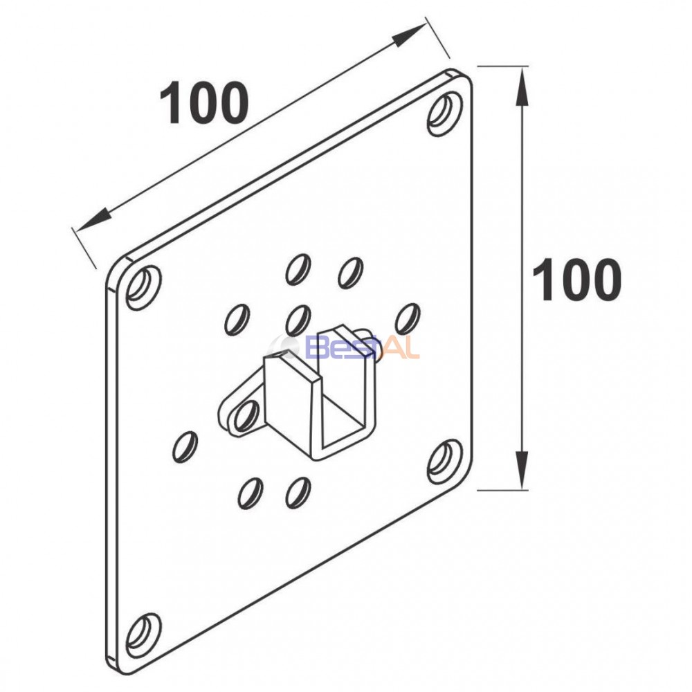 Plăcuță Prindere Arc Pretensionat Actionari Manuale & Accesorii PAP100 Bestal