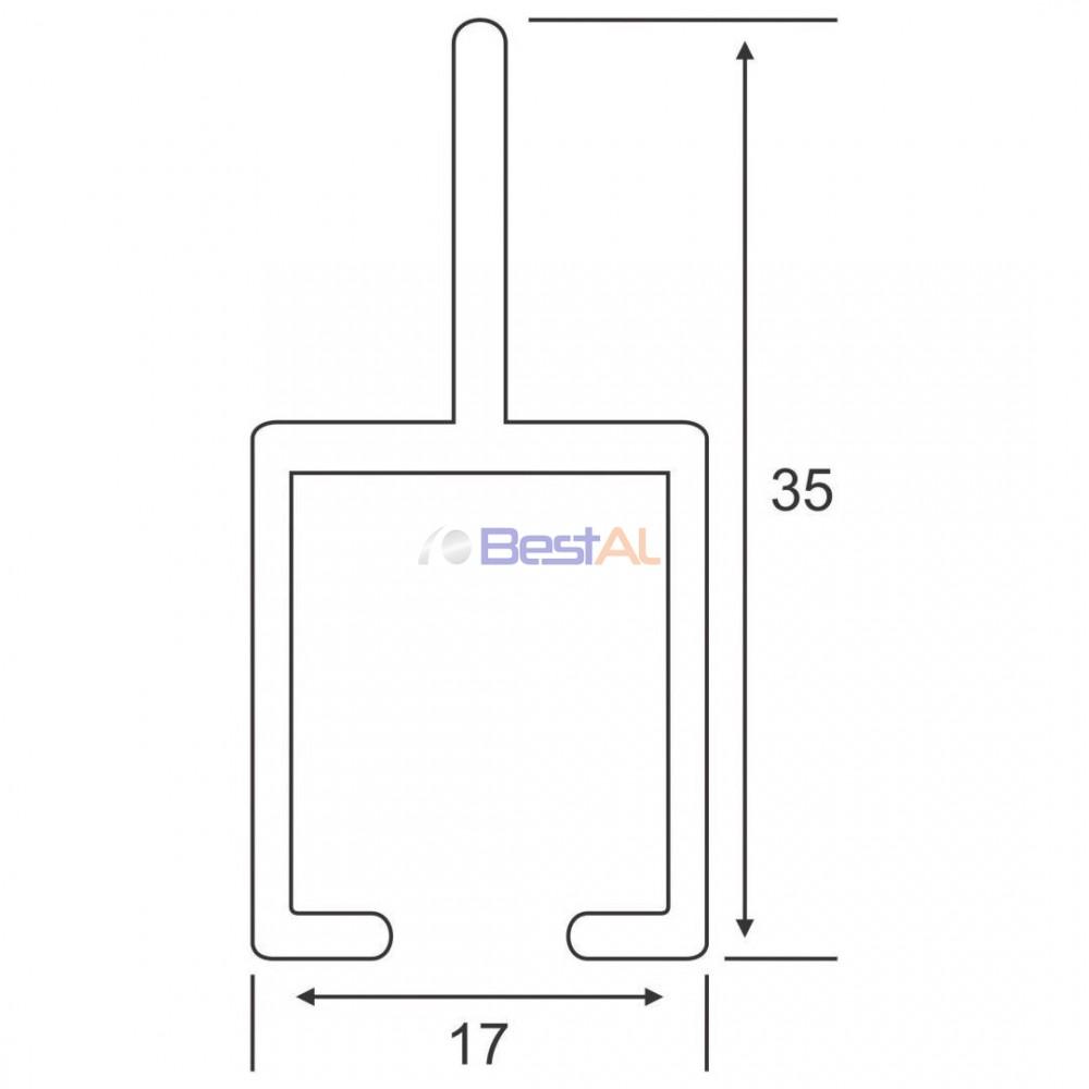 Profil Toc 1 Canat Plase Insecte Glisante TG XX Bestal