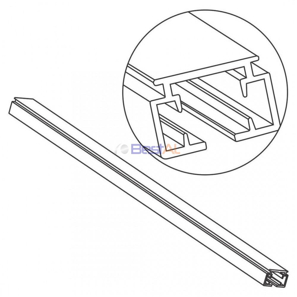 Șină Aluminiu Sina & Accesorii Draperii Electrice DS 157-05 Bestal