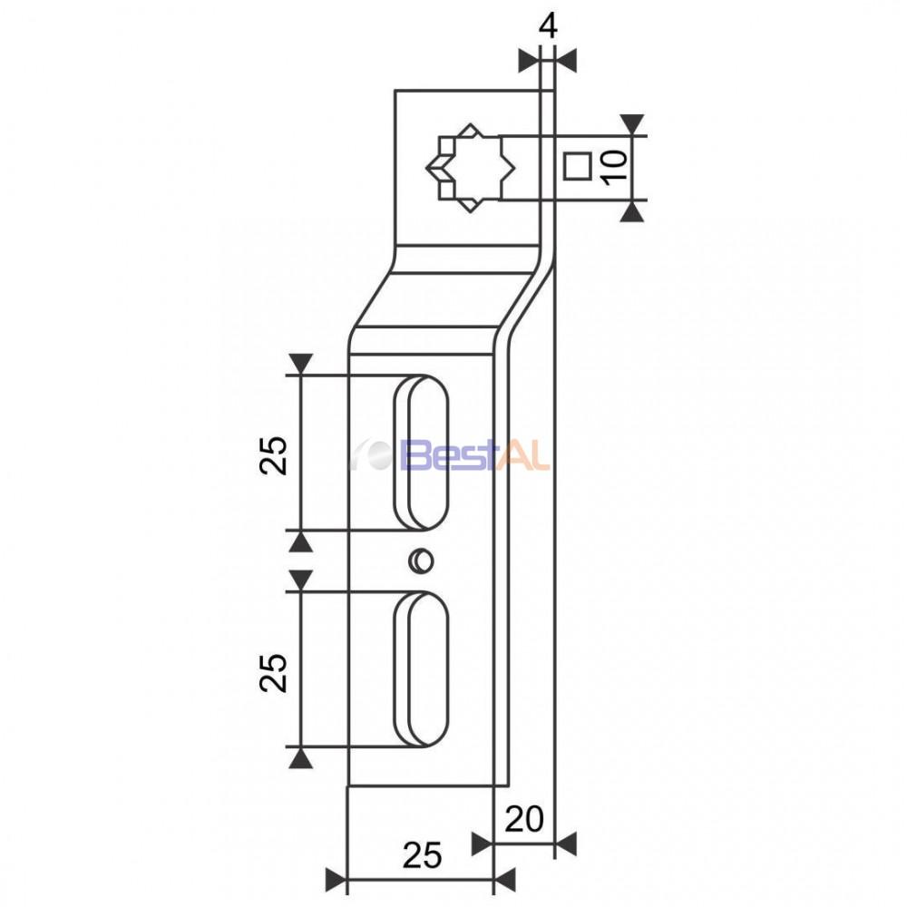 Suport cu Gaură 10mm Axuri & Accesorii SMI Bestal