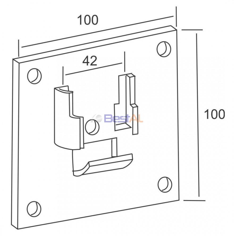 Suport Metalic pentru Rulment Axuri & Accesorii PMR 42 Bestal