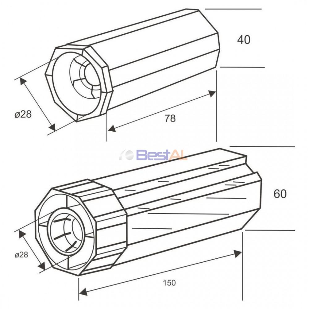 Terminație Ax Rulouri Aluminiu pentru Rulment Axuri & Accesorii TR XX Bestal