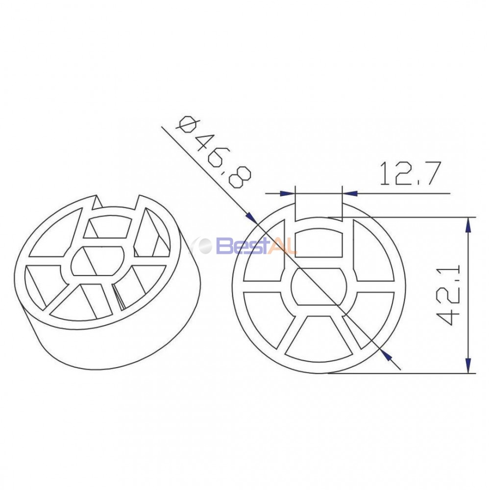 Adaptor BM 40 și Tub 50mm Inele & Adaptoare DL 164 Bestal