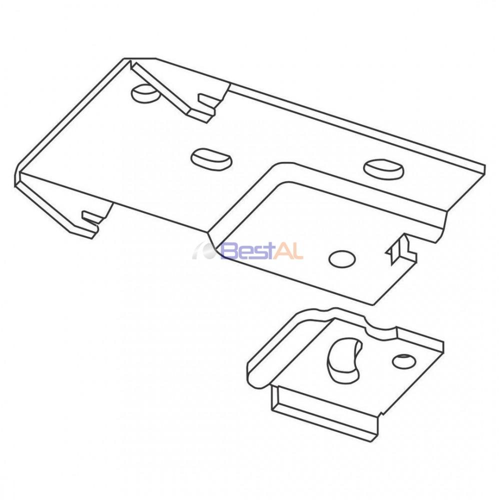Plăcuță Metalica Prindere Șină Tavan Sina & Accesorii Draperii Electrice DS 157-08 Bestal