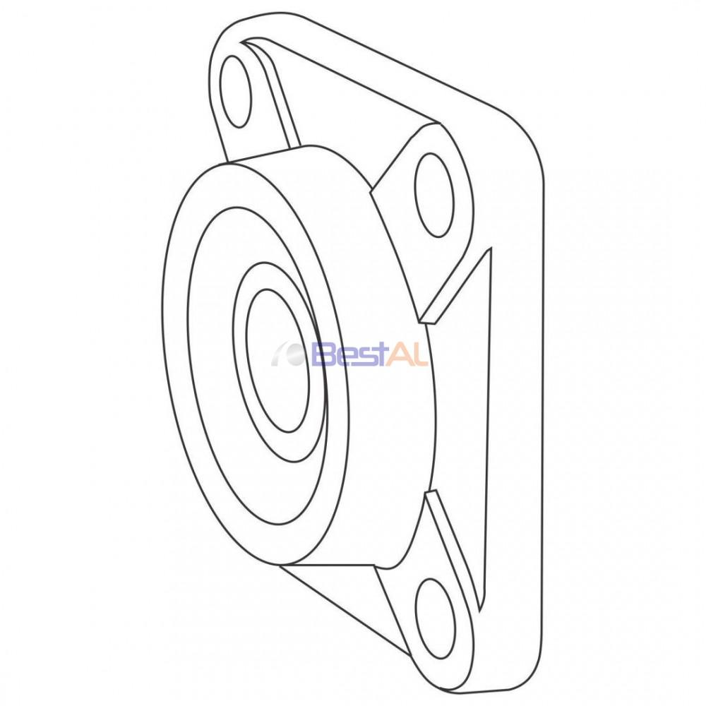 Rulment Metalic 20/102mm cu Suport Axuri & Accesorii RM 102 Bestal