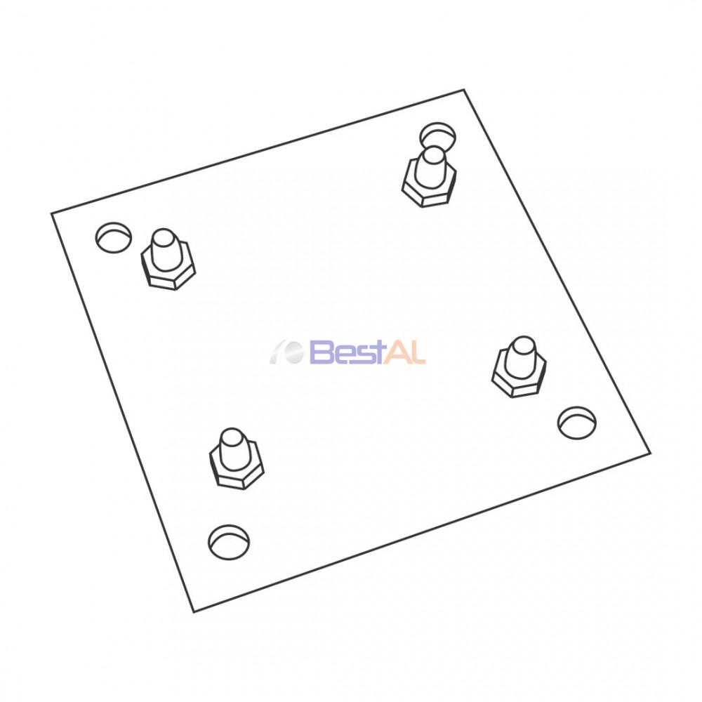 Plăcuță Motor pentru AX 102 Placi de Prindere Motor PM102 Bestal